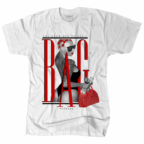 OutRank Apparel Get a Bag Red Tinker 3s Tee