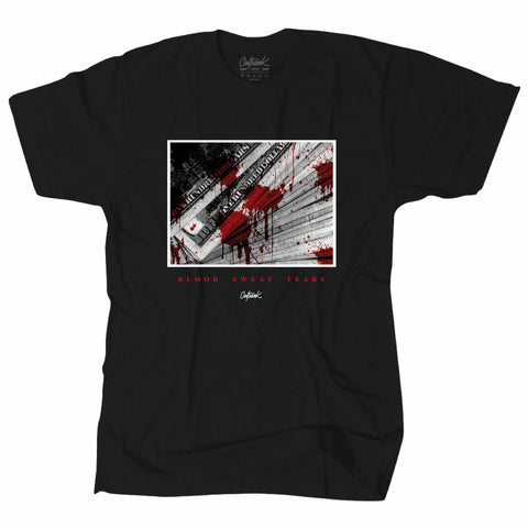 OutRank Brand Blood Sweat and Tears Bred 4s Tee