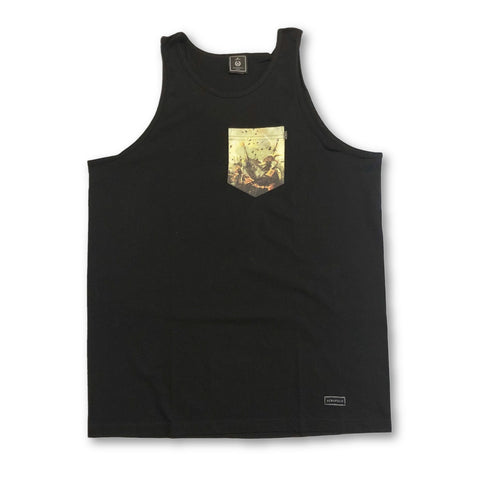Acropolis Age Armada Black Pocket Tank Top
