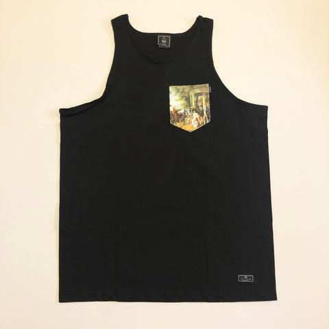 Acropolis Congress Black Pocket Tank Top