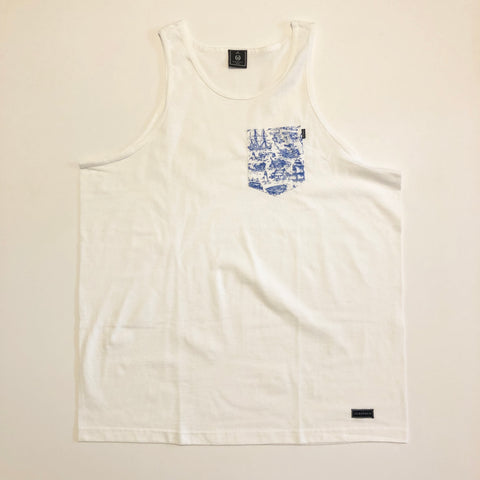 Acropolis Boats White Tank Top