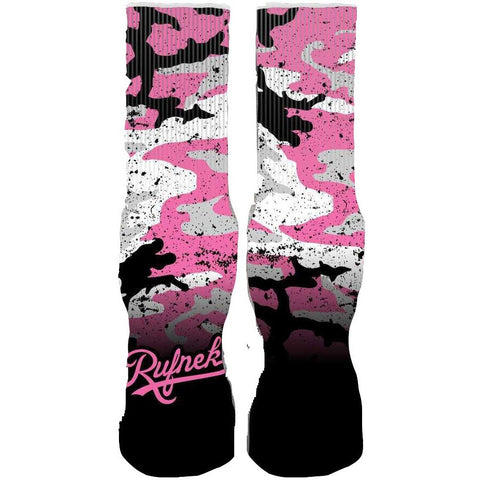 Rufnek Hardware Custom Camo Pink Socks