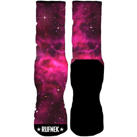 Rufnek Hardware Custom Galaxy Pink Socks
