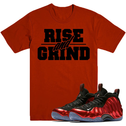 Dapper Sam Rise and Grind Metallic Red Foams Tee