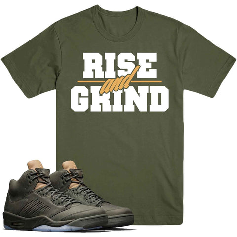 Dapper Sam Rise and Grind Take Flight 5s Tee