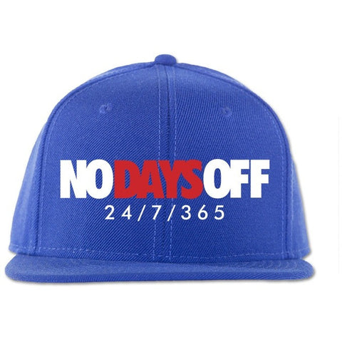 Savage No Days Off French Blue 12's Snapback Hat
