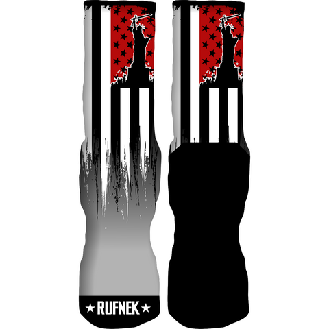 Rufnek Hardware Flag of the Free Double Nickel 10's Socks