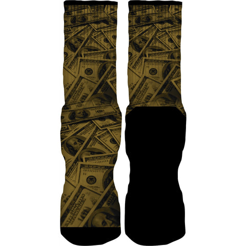 Rufnek Hardware Gold Money Royalty 4s Socks