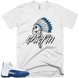 Savage Chiefin' French Blue 12's Tee