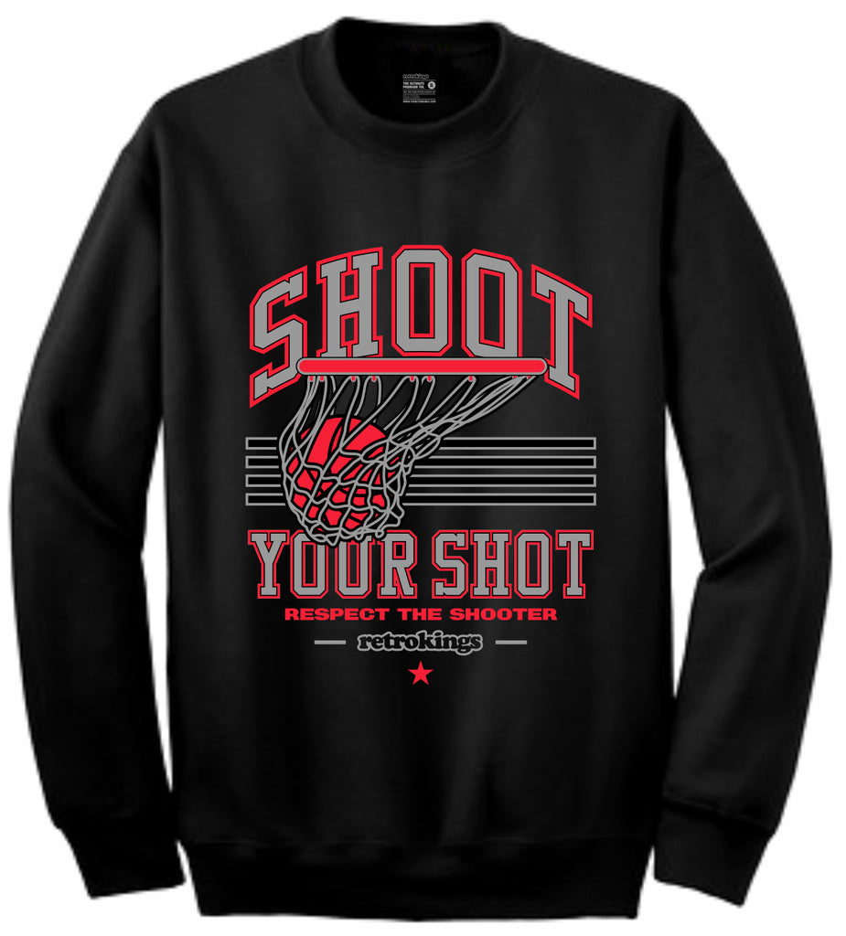 376f993d0889 Retro Kings Clothing Shoot Your Shot Infrared 6s Crewneck – Exquisite  Streetwear Shop