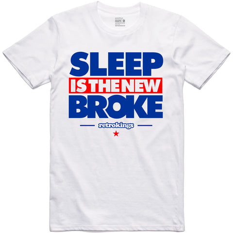 Retro Kings Clothing Sleep is the New Broke True Blue 3's Tee