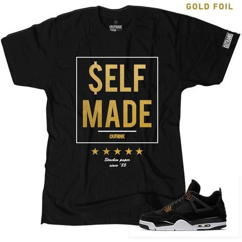 OutRank Apparel Self Made Royalty 4s Tee