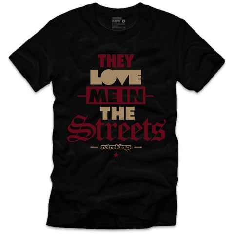 Retro Kings Clothing Street Love Maroon Foams Tee
