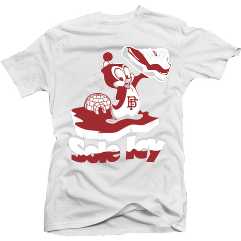 Bobby Fresh Sole Icy Varsity Red 11 Lows Tee