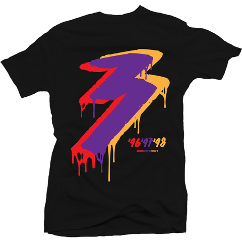 Bobby Fresh Three 3 Peat 8s Tee