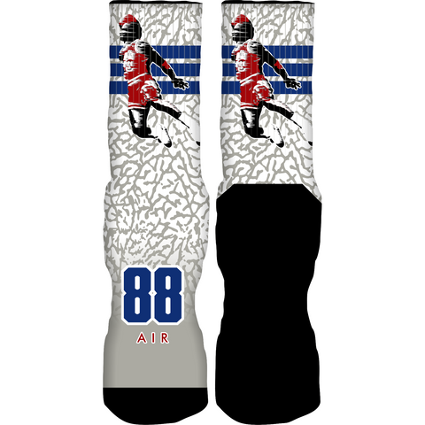 Rufnek Hardware 88 Air True Blue 3's Socks
