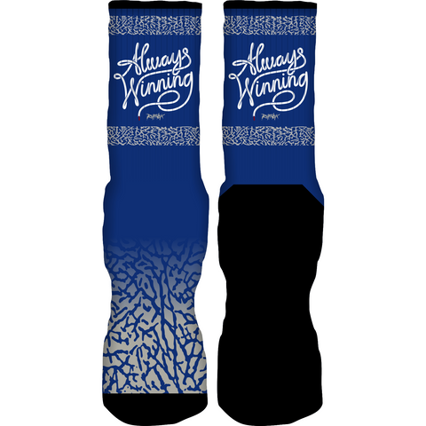 Rufnek Hardware Always Winning True Blue 3's Socks