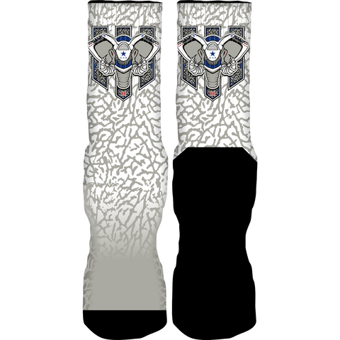 Rufnek Hardware War Elephant True Blue 3's Socks