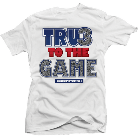 Bobby Fresh True to the Game True Blue 3's Tee