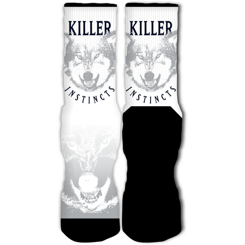Rufnek Hardware Killer Instinct Wolf Grey 12's Socks