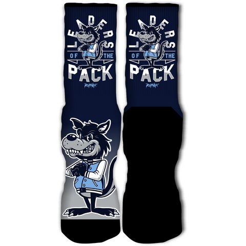 Rufnek Hardware Leaders of the Pack Wolf Grey 12's Socks