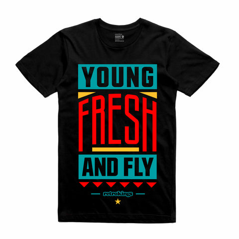 Retro Kings Clothing Young and Fresh Dream it Do it 9s Tee