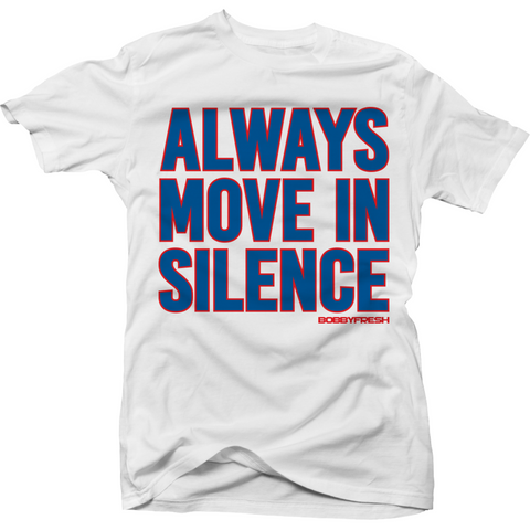 Bobby Fresh Move in Silence True Blue 3's Tee