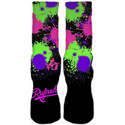Rufnek Hardware Custom Bel Air 5's Black Socks