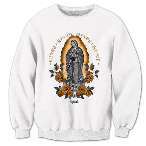 OutRank Apparel Blessed Guadalupe Wheat 6s Crewneck