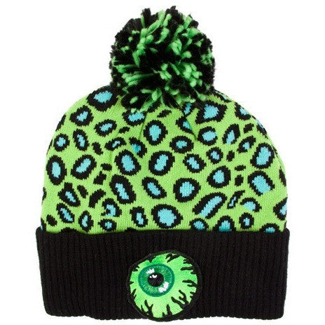 Mishka Keep Watch Safari Knit Pom Beanie Green