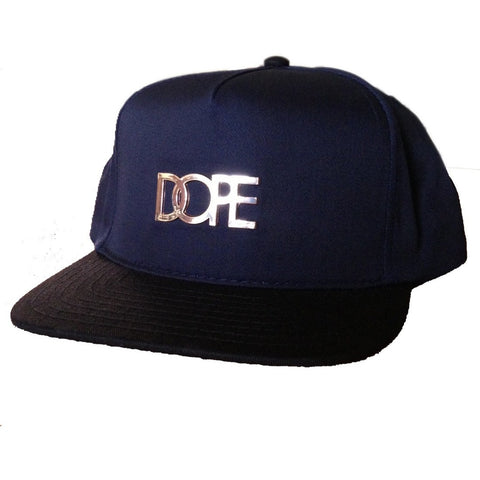 Dope Couture Medal Logo Navy Snapback