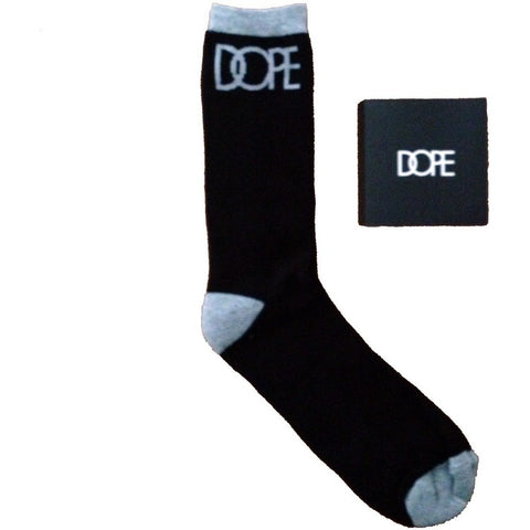 Dope Couture Logo Black with Grey Socks
