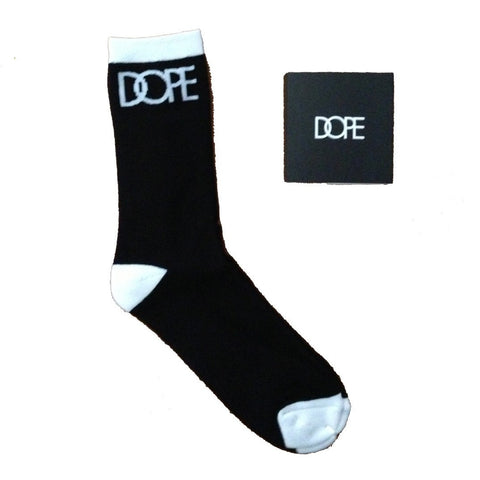 Dope Couture Logo Black with White Socks