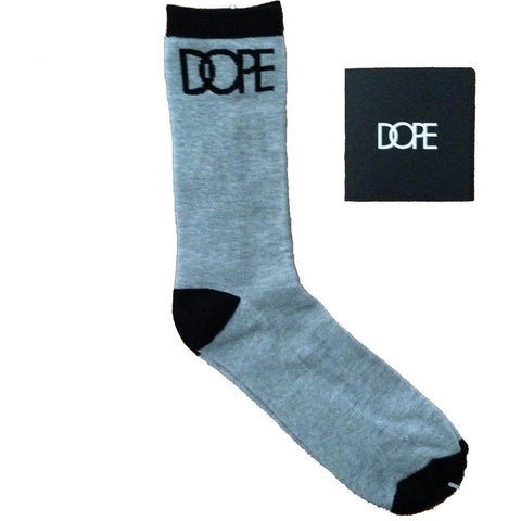 Dope Couture Logo Grey and Black Socks
