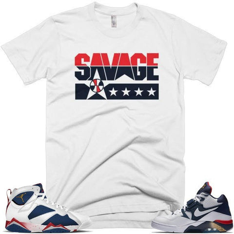 Savage Dream Team Jordan Tinker 7's Matching Tee