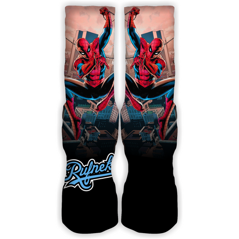 Rufnek Hardware Custom Swinging Spiderman Socks
