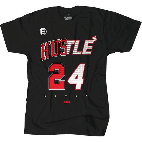 OutRank Apparel Hustle 247 Bred 13s Tee