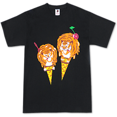 Ice Cream Sheer Terror T-Shirt Black