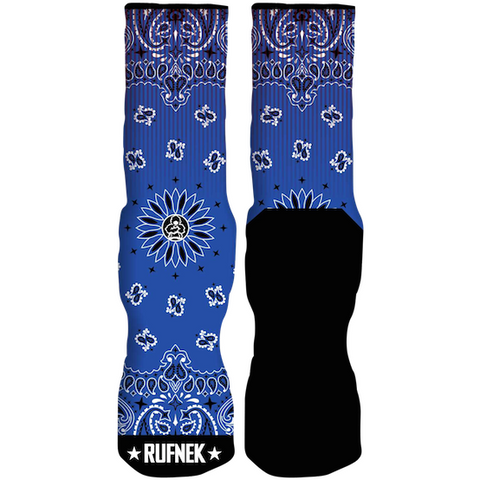 Rufnek Hardware Custom Paisley Blue Socks