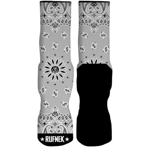 Rufnek Hardware Custom Paisley Grey Socks