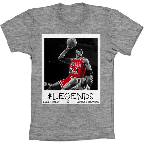 Bobby Fresh MJ Over Ewing Flu Game 12's Tee