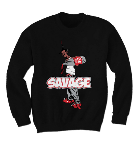 Savage Be a Menace Cement 3s Sweatshirt