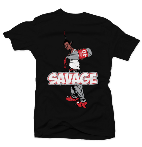 Savage Be a Menace Cement 3s Tee