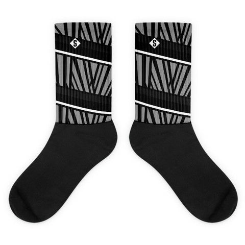 Savage Jungle Grey Socks