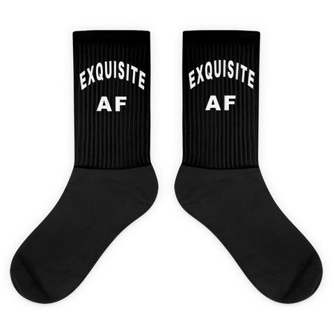 Exquisite AF Black and White Socks