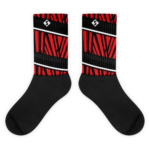 Savage Jungle Black and Red Socks