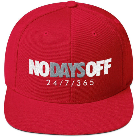 Savage No Days Red Snapback