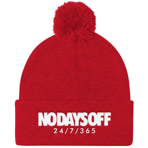Savage No Days Off Pom Beanie