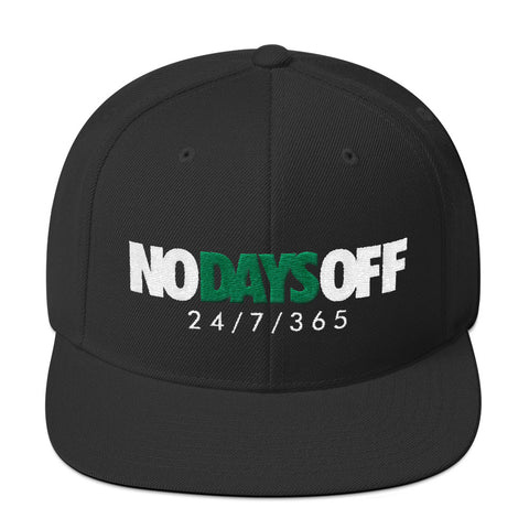 Savage No Days Off Pine Green Snapback Hat