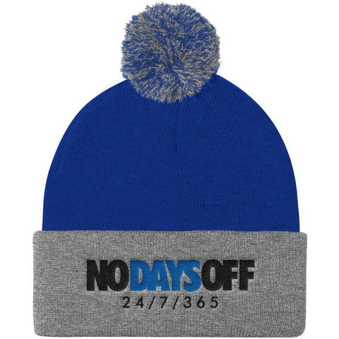 Savage No Days Off Pom Pom Knit Cap